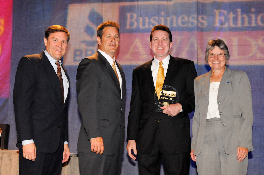 BIOPRO LLC team accepts BBB ethics award in 2009